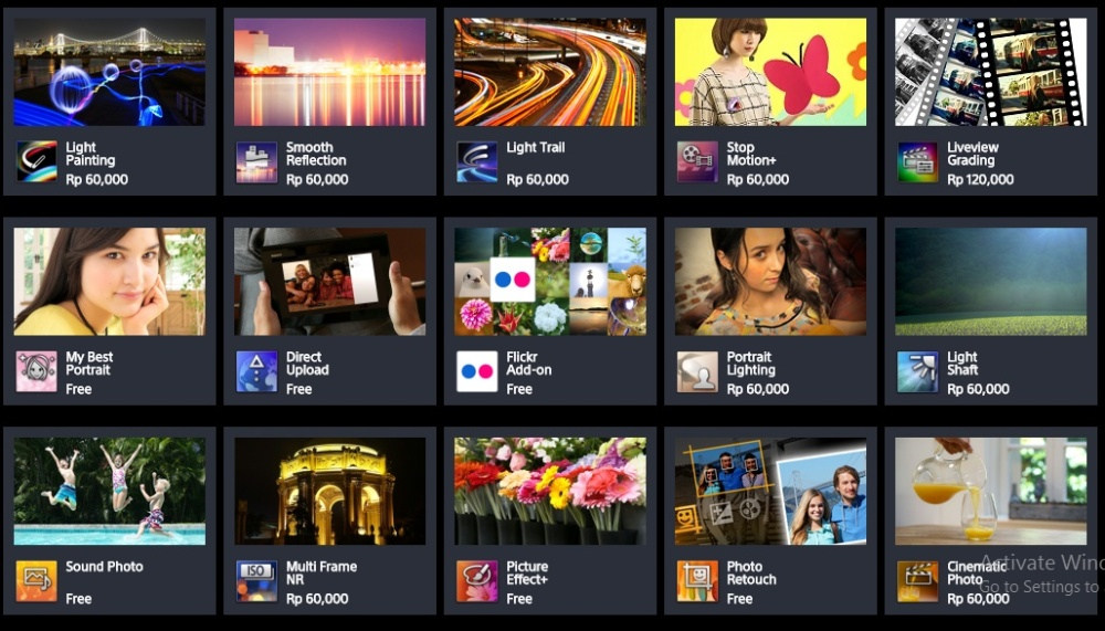 Beberapa Aplikasi dari Sony