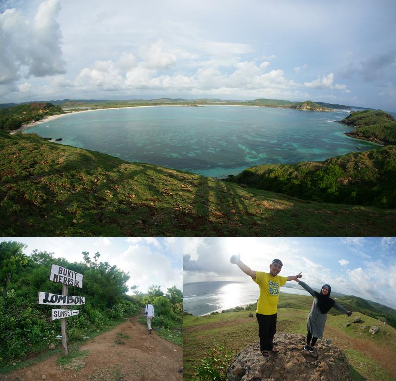 View Pantai Tanjung Aan Dari Bukit Merese